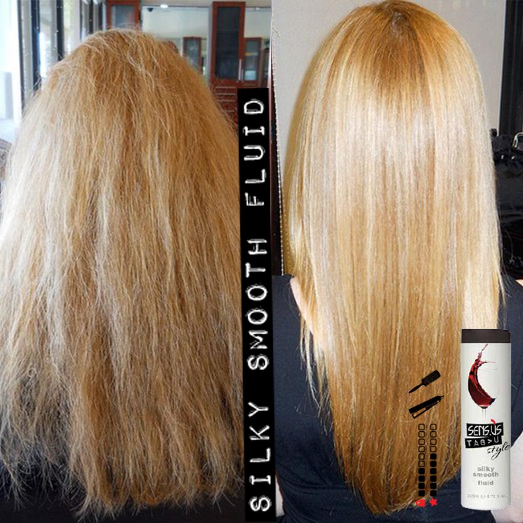 Флуид за изправяне изглаждане и копринено гладка косаот SensUs